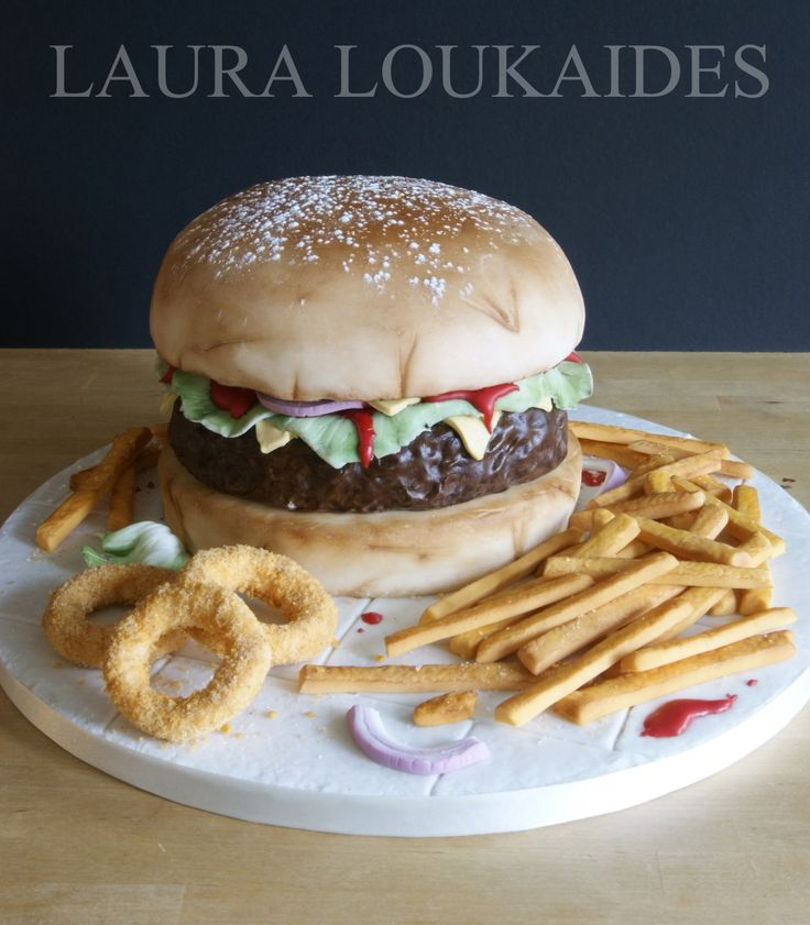"""The Big Burger Cake"" by Laura Loukaides"
