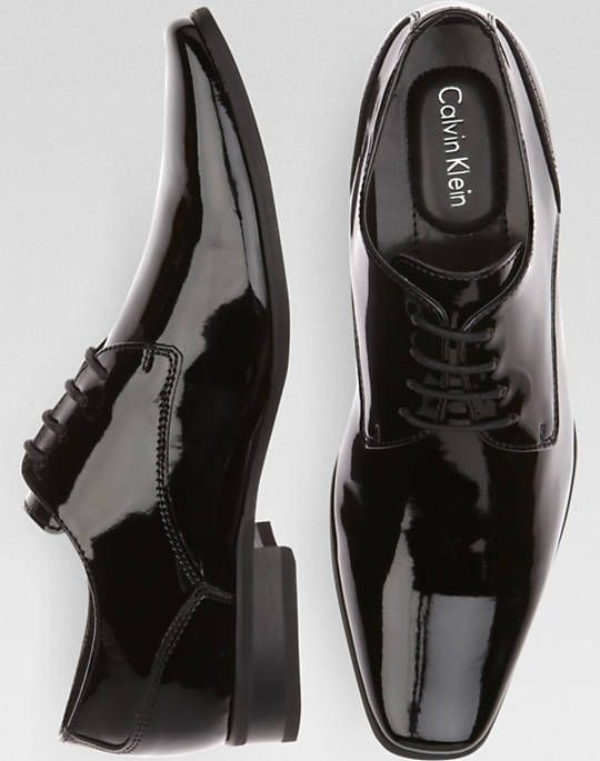 Calvin Klein Brodie Black Tuxedo Shoes, for the classic groom. #shoesdaytuesday