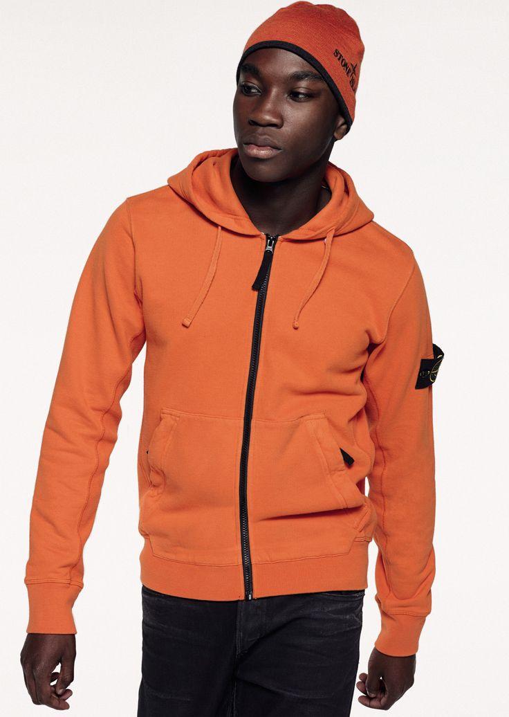 6315 Stone Island_AW '015'016_65220 Full-length zip hooded sweatshirt in brushed cotton. www.stoneisland.com