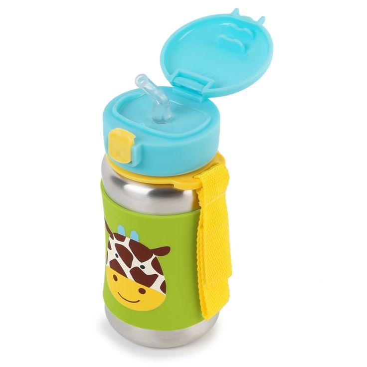 Skip Hop Pipetli Paslanmaz Çelik Suluk - Zürafa #beslenme #çocuk #bebek #skiphop