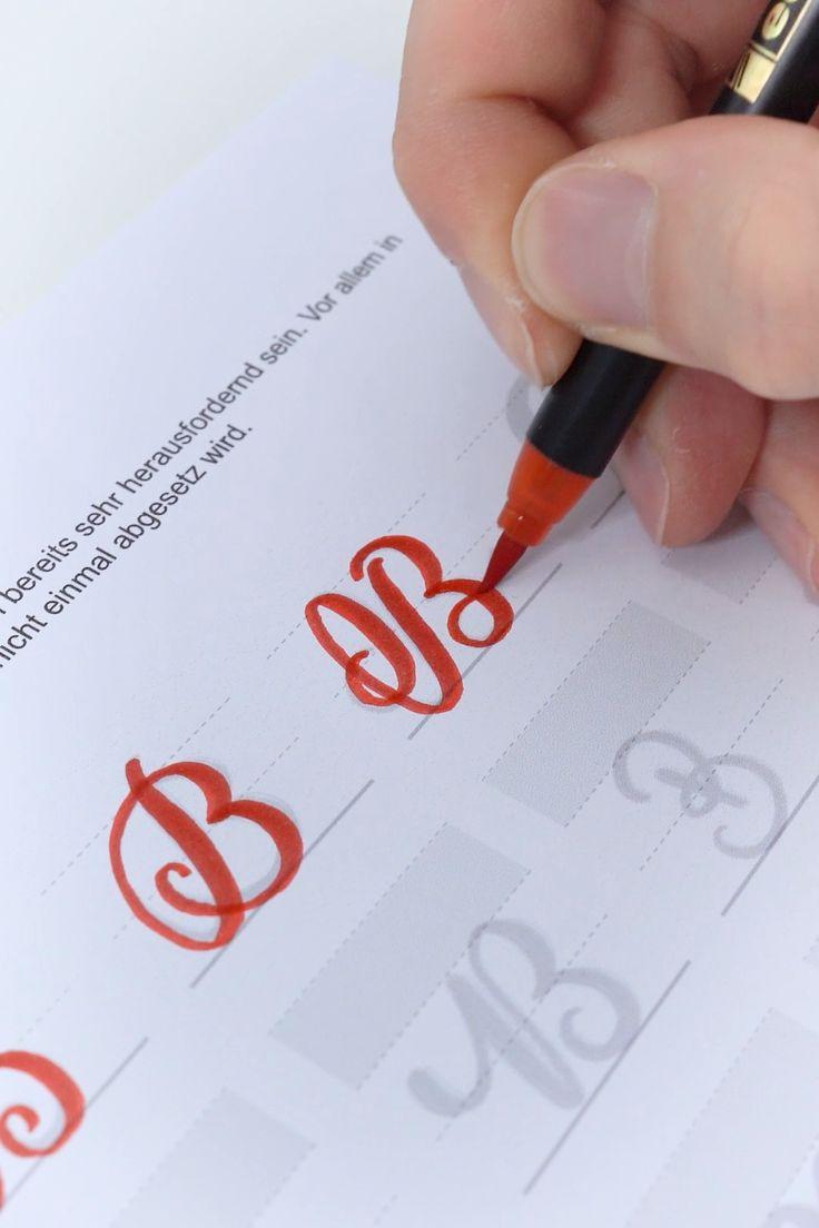 "Handlettering ""B"""
