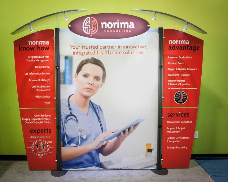 Reusable Portable Display Stand for a Consulting firm called Norima Consulting. Know more about our products and services at http://www.expodisplayservice.ae/allproducts.asp
