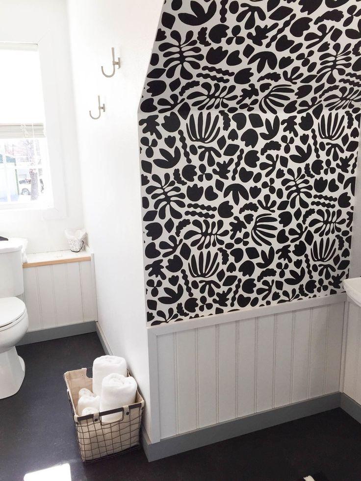 Muse Noir Wallpaper — KATE ZAREMBA COMPANY Elle decor