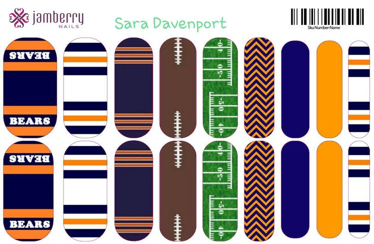 Pin By E Shopzenlove On Nail Art Nfl Jamberry Custom
