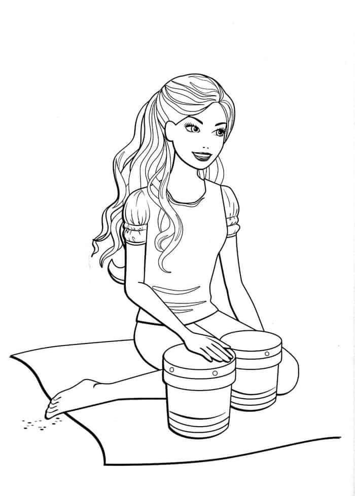 Barbie Fashion Fairytale Coloring Pages Printable