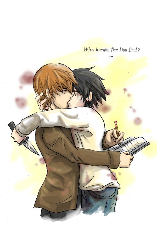 Death Kiss by ~Limebro on deviantART (Light and L from Death Note)