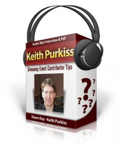 Dawn Kay: Keith Purkiss Interview – Giveaway Event Contributor Tips