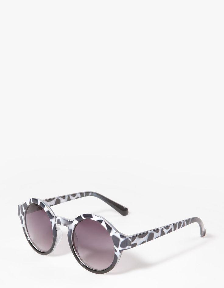 Okulary z cieniowanym wzorem animal print - 49,90PLN