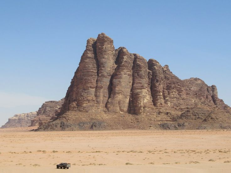 Lawrence of Arabia named his autobiography after the Seven Pillars of Wisdom rock formation at Wadi Rum in southern Jordan.