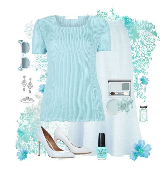 Icy Blue But Not Cold by havingsomefun on Polyvore featuring polyvore, fashion, style, Windsmoor, Eastex, ALDO, Ray-Ban, Clinique, Bare Escentuals, Terry de Gunzburg, PLANT and clothing