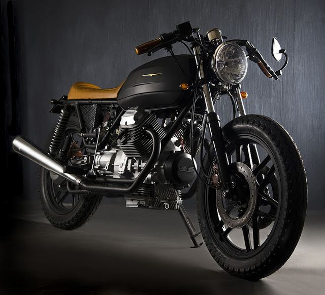 Moto Guzzi V35 Black Boot by Marco Matteucci