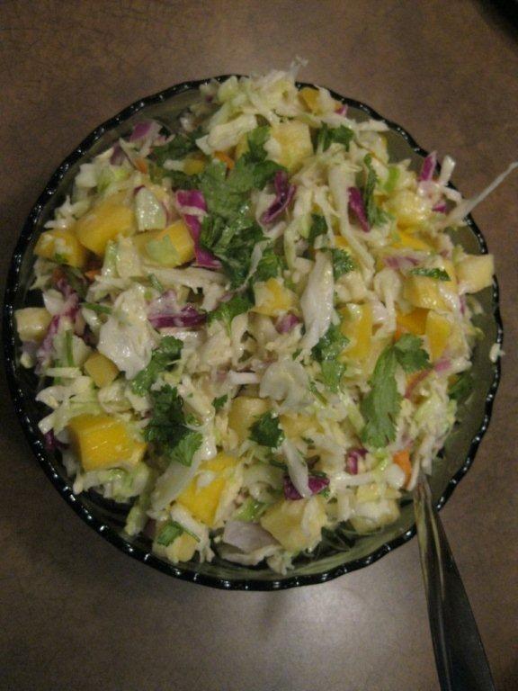 Tropical coleslaw.