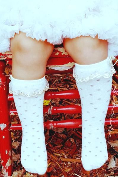 These dainty cream and gold polka dot knee highs are the perfect accessory to transition any outfit into the perfect fall and winter style! Pair with rompers