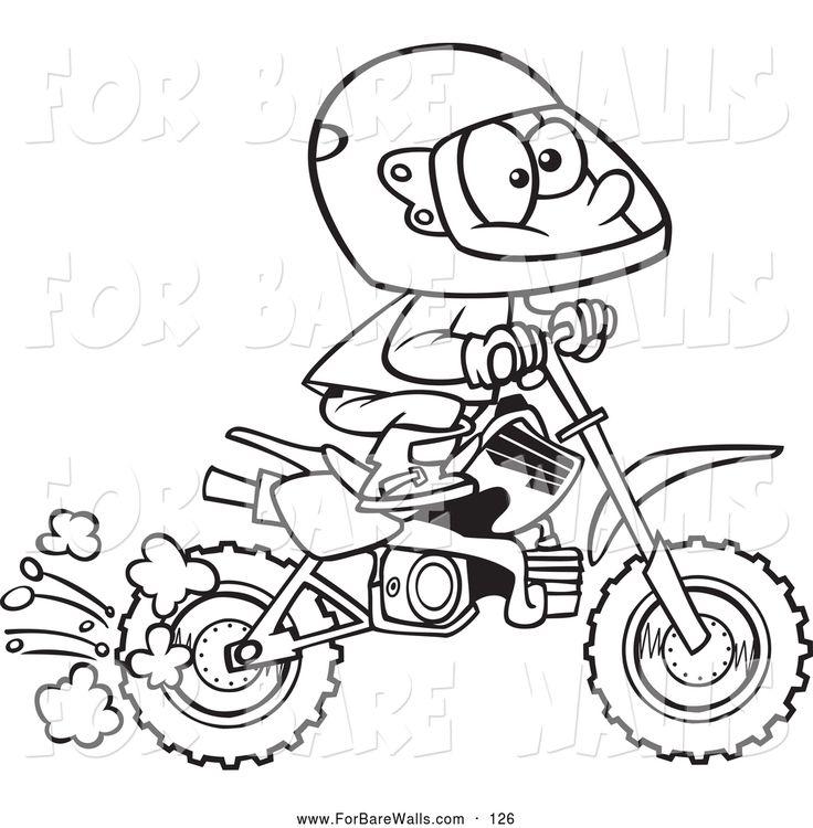 dirt bike coloring pages honda - photo#29