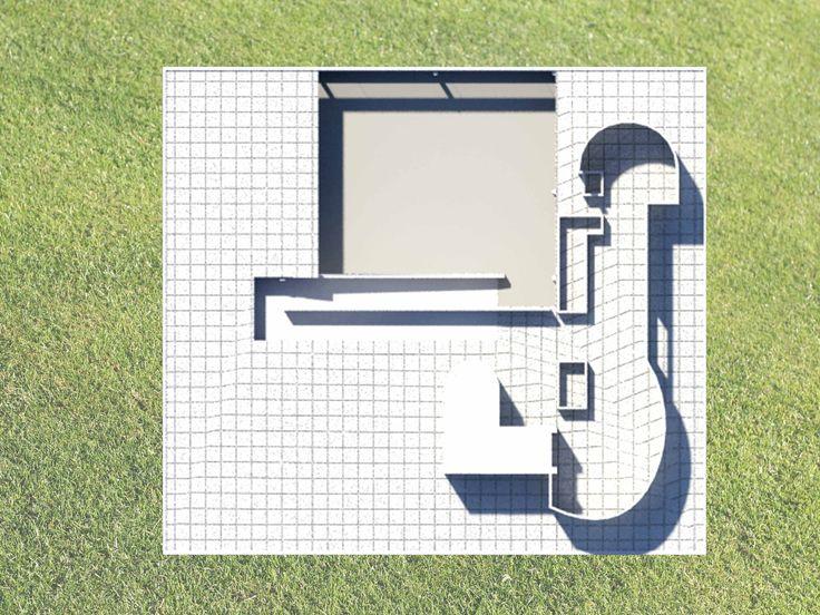 villa savoye / 3D max / plan