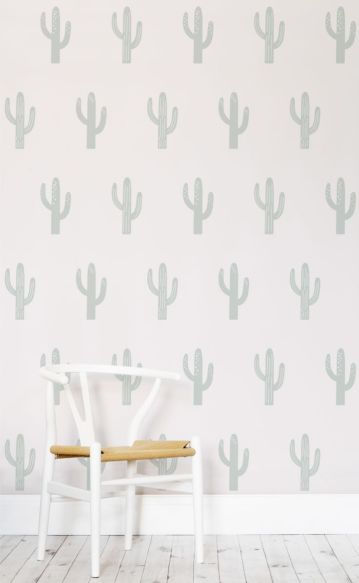 In love with these delicate pastel hues. This cactus wallpaper boasts the most lovely colour palette. Perfect for gender neutral nurseries looking for a joyful pattern for their walls.