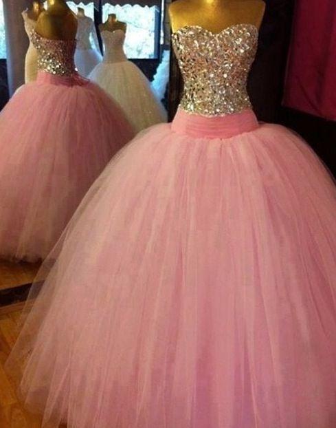 Robe de princesse - Rose Argenté MAGNIFIQUE