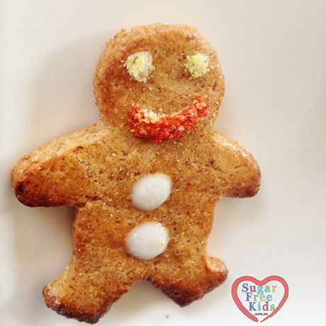 Sugar Free Gingerbread Men cookie recipe. Gluten free with all natural icing and decorations. Perfect edible Christmas gift or Christmas party food
