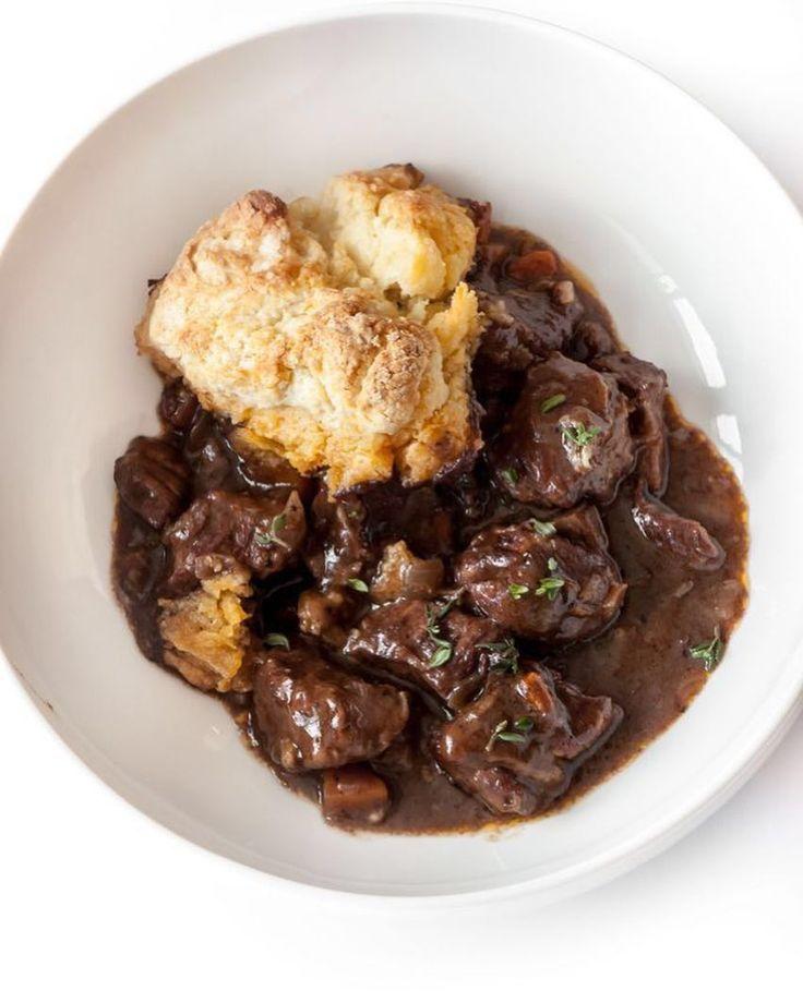 braised beef and mushroom cobbler #beef #cobbler #recipe #dinner