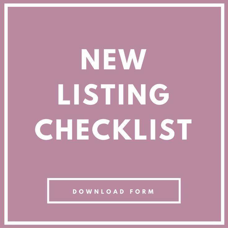 real estate listing checklist pdf