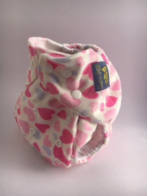 Pink Hearts - Minky Outer