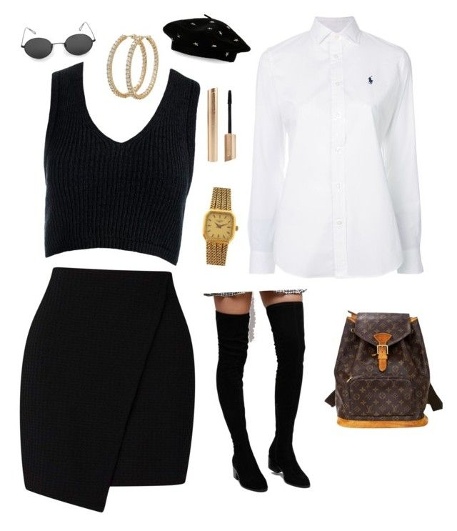 """""""Untitled #31"""" by sofiabaaima ❤ liked on Polyvore featuring Sans Souci, Polo Ralph Lauren, Steve Madden, Louis Vuitton, Roberto Coin and Longines"""