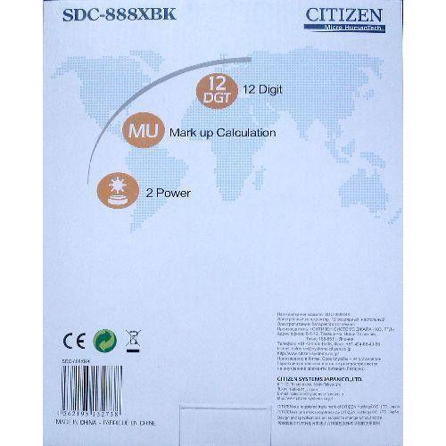 Asztali nagy számológép 1 2 karakteres Citizen SDC-888XBK Ft Ár 4,329