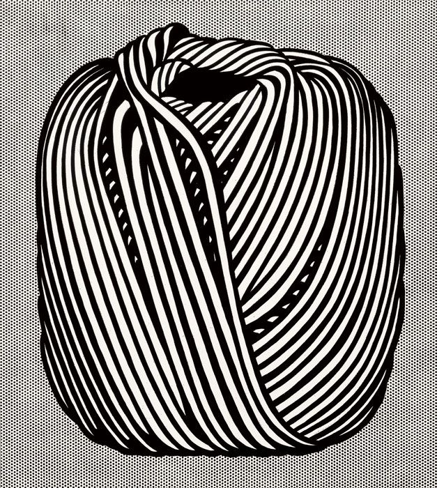 Roy Lichtenstein (1923-1997). Ball of Twine, 1963. Magna on canvas,  172.7 x 91.4 cm (40 x 36 in).  © Estate of Roy Lichtenstein. Christie's