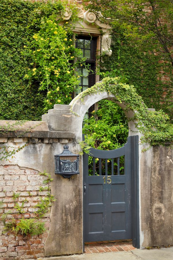 "hueandeyephotography: ""Arched Doorway, Charleston, SC © Doug Hickok All Rights Reserved hue and eye the peacock's hiccup """