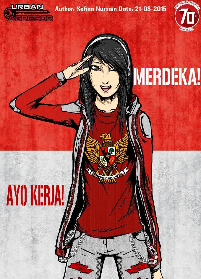 merdeka! ayo kerja!  #katrine #martha #katrinemartha #urban #hero #corps #agresor #urbanagresor