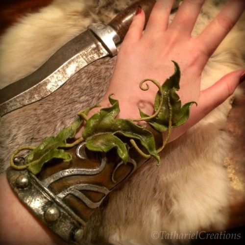My very first worbla creation is finished! A sturdy elven bracer (made up the design on a whim) I've been sooo busy with my etsy store ( www.etsy.com/shop/TatharielCreations ), but I finally brushed on the last coats of paint this evening! (And now I kinda wanna make a matching pauldron!) Taken with (Instagram) Feel free to follow me here as well!I post personal pictures of yours truly, my art, daily life and my ever so epic adventures :)  My username: Tathariel