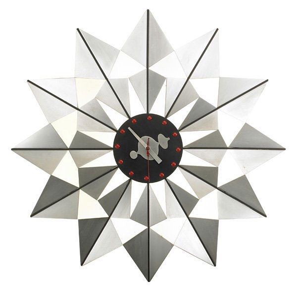 The #FlockofButterflies or model #2226 #clock is one of more than 150 #clocks designed by #GeorgeNelson associates between 1949 and 1980.  All their clock designs were manufactured through the Howard Miller Clock Company.  Whilst this clock's #design is attributed to George Nelson himself (as was company policy), the true #designer behind it was likely #IrvingHarper, #DonChadwick or #JohnPile all of whom worked for #Nelson during that period.  The wood and aluminium Flock of #Butterflies…