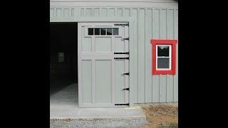 how to build barn or garage swing out doors barn