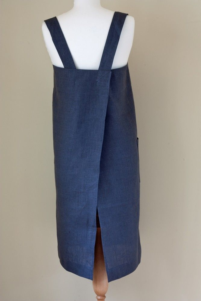 Square 100% Linen Apron by Fog Linen Work