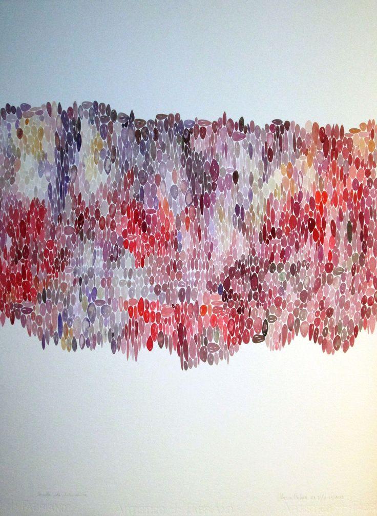 Quota di disordine cm 56 x 76 Tecnica acquerello Anno 2013