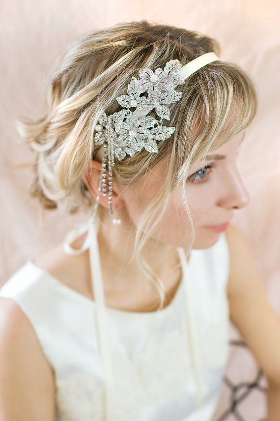 Vintage Style Bridal Hairband Gatsby 1920s by LottieDaDesigns