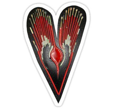 Paint My Heart Sticker by StickerNuts