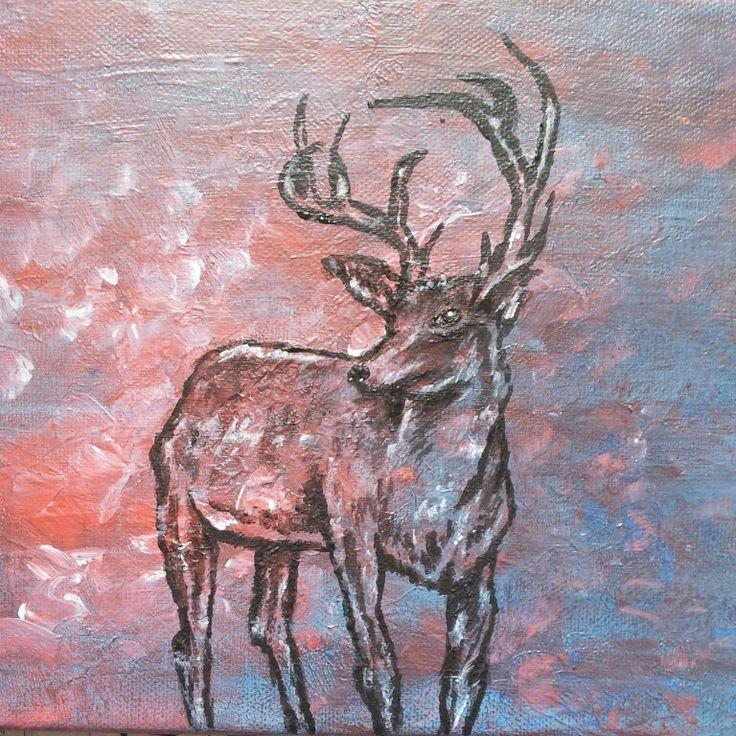 Painting - deer art