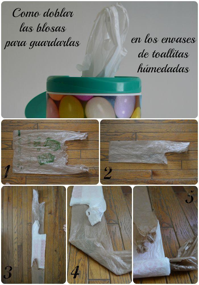 Naturalmente Mamá: Embellece los envases de toallitas para limpiar y organiza tus bolsas de supermercado