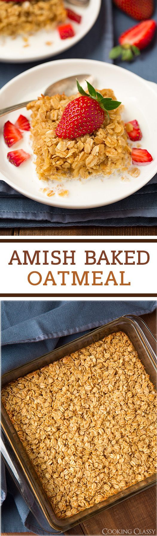 Amish Baked Oatmeal - my new favorite way to make oatmeal! Delicious!