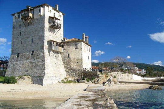VISIT GREECE| Castle of #Ouranoupoli #greekcastles Mount #Athos peninsula #Macedonia #Greece