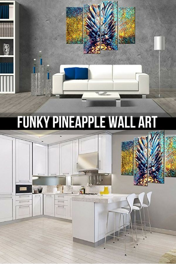 Eclectic, Whimsical and Adorable Pineapple Wall Decor   Modern Art ...