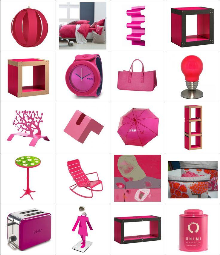 [LA SÉLECTION DU MOIS] : des objets rouge framboise pour un intérieur dynamique, chic, glamour...http://urlz.fr/1AIO
