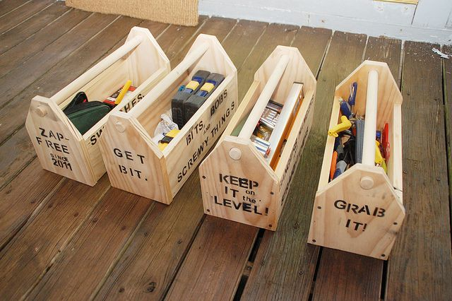 DIY toolboxes - great way to keep things organized (and looking good) in the garage