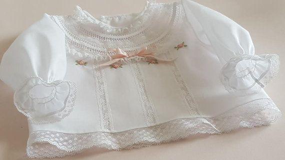 CAMISA  primera puesta BATISTA algodón . por LenceriaMontseTorres