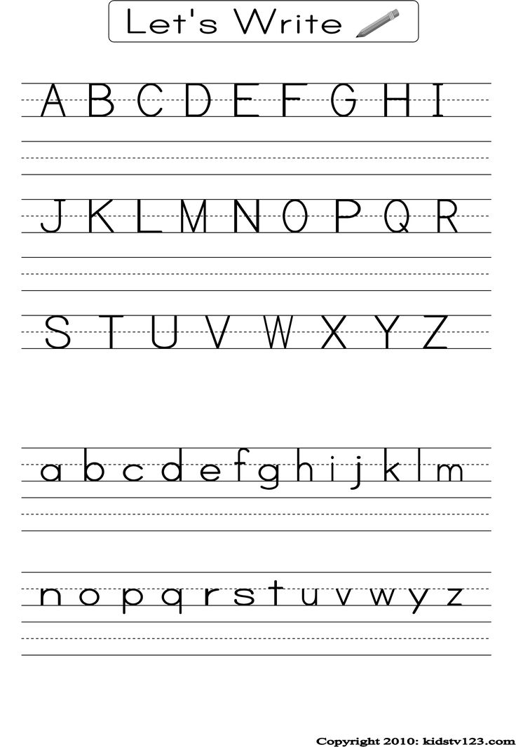 Alphabet Writing Assessment