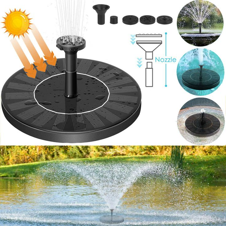 Bird Bath Fountain Solar Powered Water Pump Floating 640 x 480