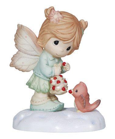 Love this Fairy & Cardinal Figurine on #zulily! #zulilyfinds