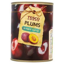 Tesco Red Plums In Light Syrup 570G - Groceries - Tesco Groceries