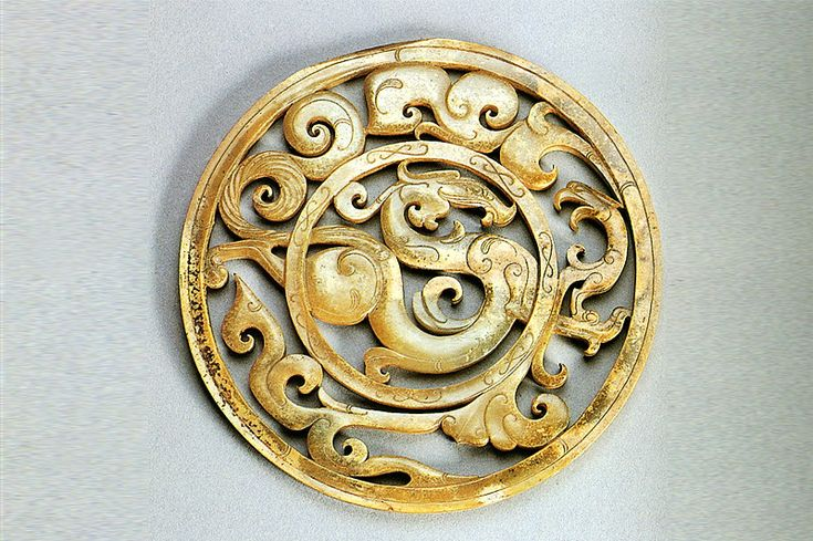 This particular piece was found buried with a deceased Han emperor. It is a jade ornament. Its considered to be a prominent example of jade art during the Han Dynasty. Craftsman: Unknown Date: ca.205 B.C. - 24 A.D Location: Museum of the Western Han Dynasty Mausoleum of the Nanyue King Link: http://www.gznywmuseum.org/info_22.aspx?itemid=697&pcid=3